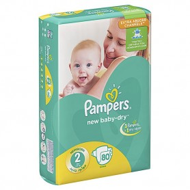 Pampers new born-dry 3-6 kg min 80pcs
