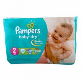 Pampers new born-dry 3-6 kg min 40pcs